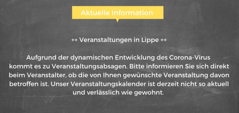 ++Veranstaltungsabsagen in Lippe!++